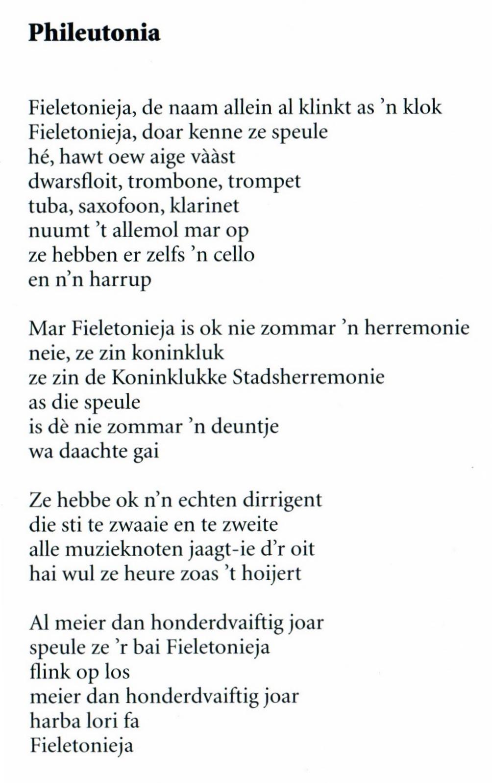 Gedicht Phileutonia Door Frans De Poeter 187 Koninklijke